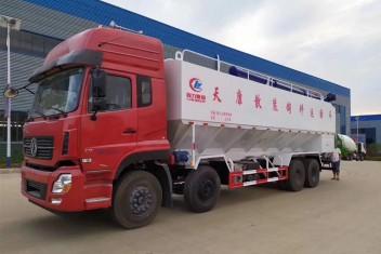 (40方)东风天龙8*4散装饲料运输车