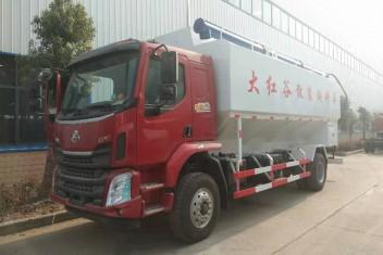 (14吨)柳汽乘龙27方散装饲料运输车