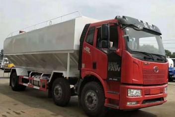 (30方)解放J6小三轴散装饲料运输车
